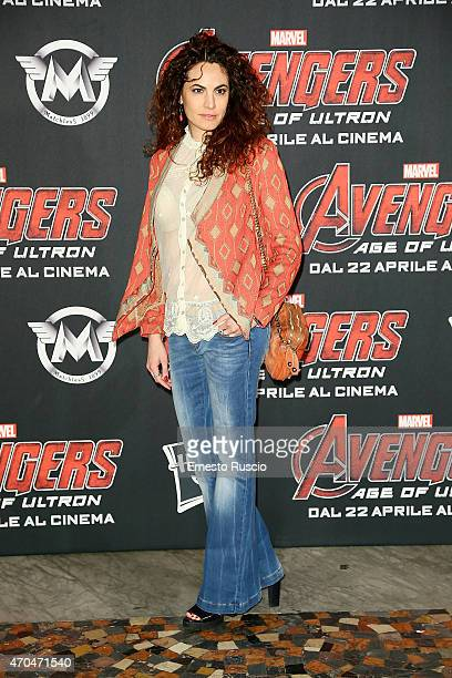 Enrica Guidi attends the 'The Avengers' premiere at The Space Moderno on April 20 2015 in Rome Italy