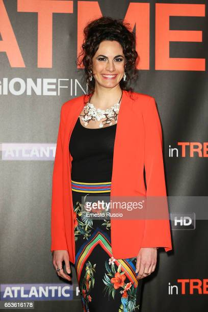 Enrica Guidi walks a red carpet for 'In Treatment' at Officine Farneto on March 15 2017 in Rome Italy