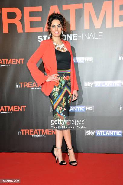 Enrica Guidi walks a red carpet for 'In Treatment' on March 15 2017 in Rome Italy
