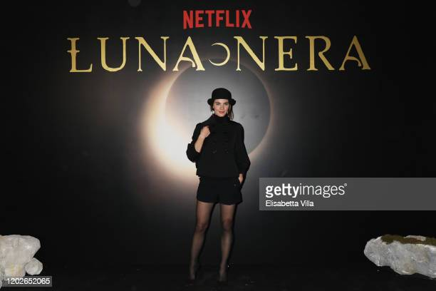 Enrica Pintore attends the Netflix's Luna Nera Premiere photocall on January 28 2020 at Horti Sallustiani in Rome Italy