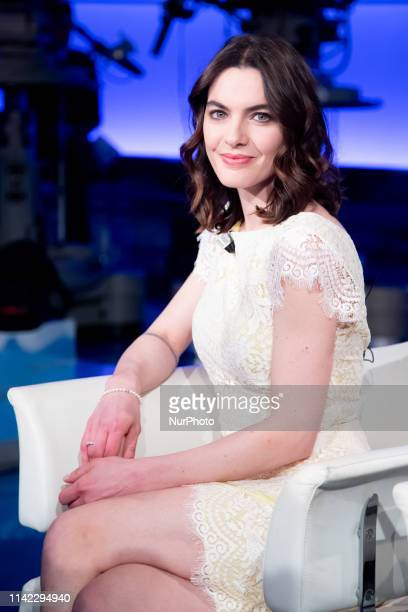 Enrica Pintore attends the TV show 'Porta a Porta' by Bruno Vespa in Rome Italy on May 7 2019