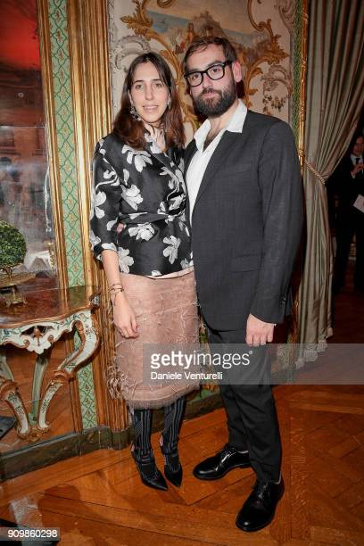 Enrica Ponzellini and Carlo Mengucci attend the Pomellato after party for the new campaign launch with Chiara Ferragni as part of Paris Fashion Week...