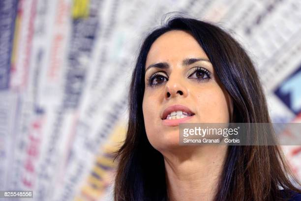 Enrica Sabatini And 5 Star Movement Present New Version Of The Rousseau Platform To Foreign Media on August 2 2017 in Rome Italy