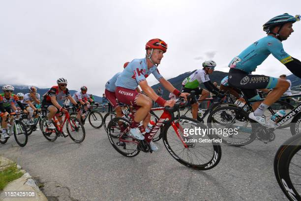Enrico Battaglin of Italy and Team Katusha Alpecin / Davide Villella of Italy and Astana Pro Team / Ryan Gibbons of South Africa and Team Dimension...