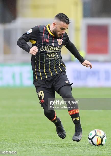 Enrico Brignola of Benevento Calcio in action during the serie A match between Benevento Calcio and Cagliari Calcio at Stadio Ciro Vigorito on March...