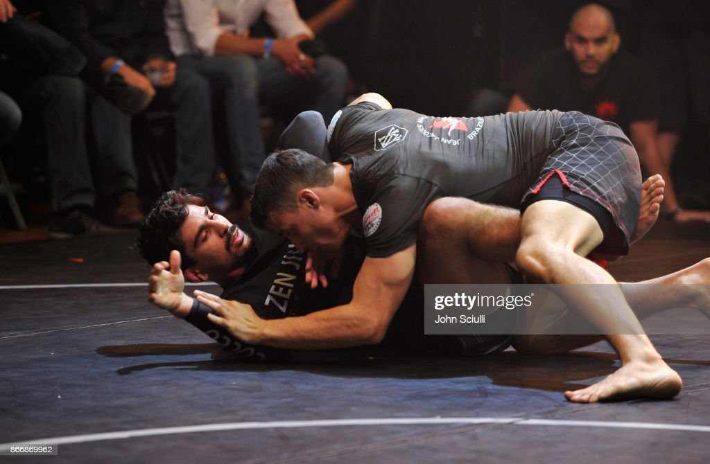 Enrico Cocco and Joey Hauss grapple during Bushido Battleground Fight Night at Exchange LA on October 26, 2017 in Los Angeles, California.