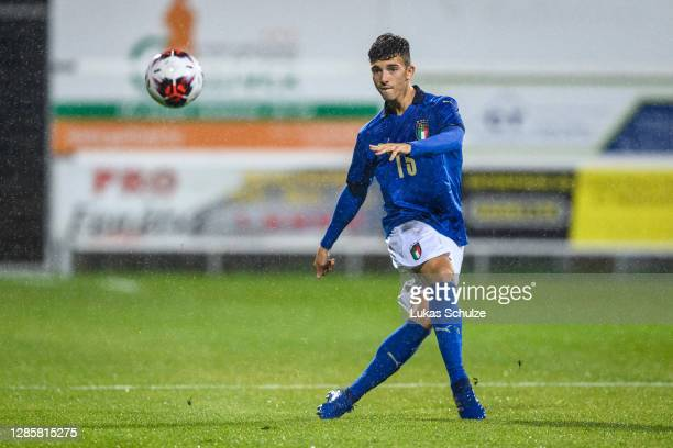Enrico Del Prato of Italy controls the ball during the UEFA Euro Under 21 Qualifier match between Luxembourg U21 and Italy U21 at Stade Municipal de...