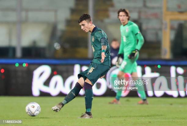 Enrico Del Prato of Italy during UEFA U21 European Championship Qualifier match between Italy and Armenia at Stadio Angelo Massimino on November 19...
