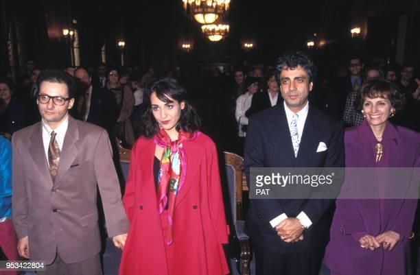 Enrico et Suzy Macias marient leur fille Jocya Macias avec Oury Milshtein en février 1992 à Paris France