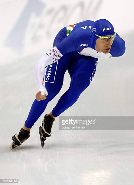 Enrico Fabris of Italy skates the 5000m during the day 2 of the ISU World Cup Speedskating Championships at the Utah Olympic Oval on December 12 2009...