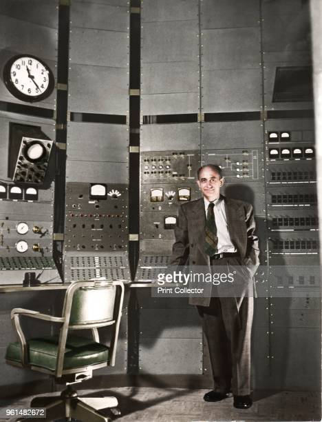 Enrico Fermi Italianborn American nuclear physicist circa 1942 Fermi constructed the first working nuclear reactor in a squash court at the...