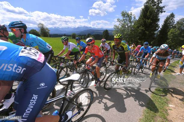 Enrico Gasparotto of Italy and Team Dimension Data / Domenico Pozzovivo of Italy and Bahrain Merida / Tsgabu Gebremaryam Grmay of Ethiopia and Team...