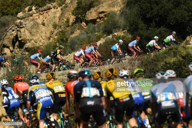Enrico Gasparotto of Italy and Team Dimension Data / Mads Würtz Schmidt of Denmark and Team Katusha Alpecin White Best Young Rider Jersey / Alexis...