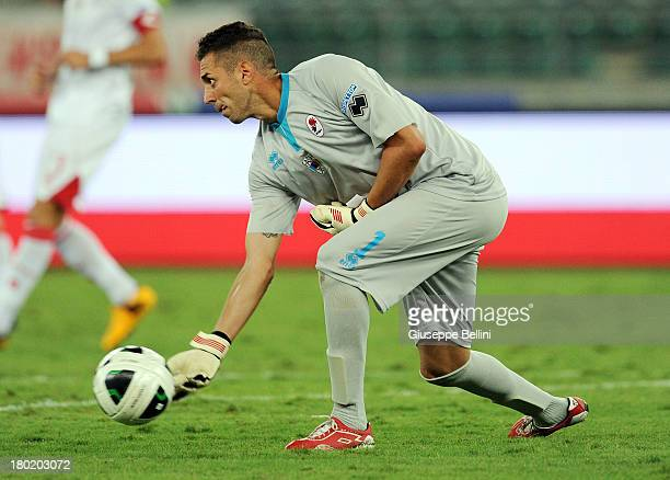 Enrico Guarna of Bari in action during the Serie B match between AS Bari and Brescia Calcio at Stadio San Nicola on August 31 2013 in Bari Italy