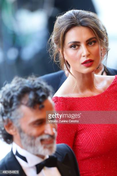 Enrico Lo Verso and Catrinel Marlon attend the Two Days One Night premiere during the 67th Annual Cannes Film Festival on May 20 2014 in Cannes France