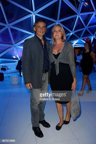 Enrico Lo Verso and Elena Lo Verso attend the Party Lanterna Di Fuksas during the 9th Rome Film Festival on October 19 2014 in Rome Italy