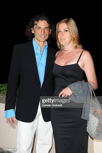 Enrico Lo Verso and Elena Lo Verso attend the Taormina Arte Award during the Taormina Film Fest 2010 on June 15, 2010 in Taormina, Italy.