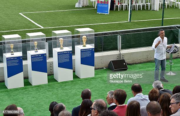 Enrico Lo Verso attends during the Italian Football Federation Kick Off seminar on June 20 2015 in Cesena Italy