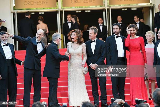 Enrico Lo Verso Edoardo Ponti Therry FremauxSophia Loren William Goodrum Massimiliano di Lodovico and Catrinel Marlon attend Voce Umana Premiere...
