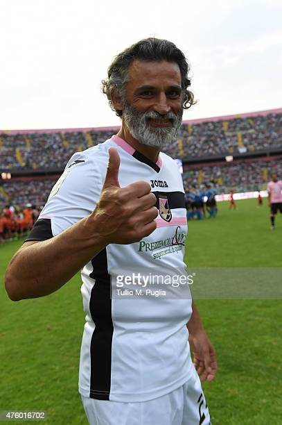 Enrico Lo Verso poses during the charity match between Atletico Salvuccio and Real Valentino at Stadio Renzo Barbera on June 5 2015 in Palermo Italy