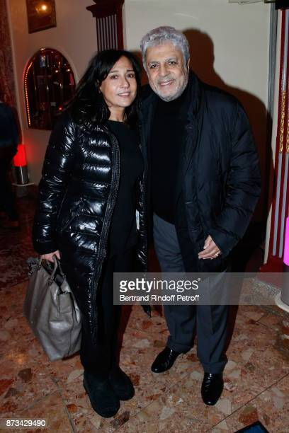 Enrico Macias and his daughter Jocya Ghrenassia attend 'Depardieu Chante Barbara' at 'Le Cirque D'Hiver' on November 11 2017 in Paris France