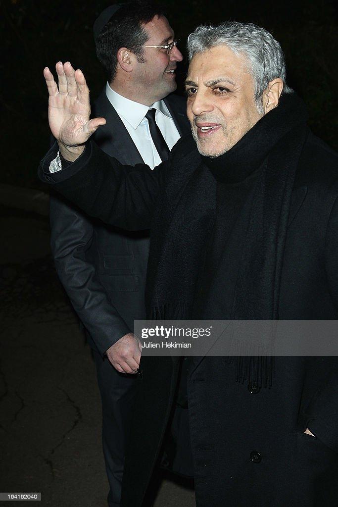Enrico Macias attends the 28th Dinner of 'Conseil Rrepresentatif Des Institutions Juives De France at Pavillon d'Armenonville on March 20, 2013 in Paris, France.