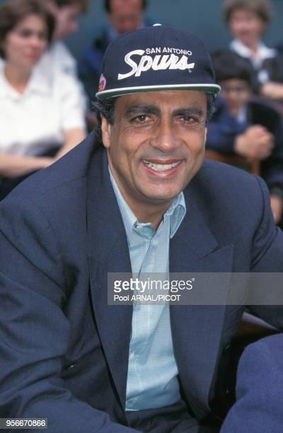 Enrico Macias au tournoi de tennis de Roland Garros en juin 1995 Paris France
