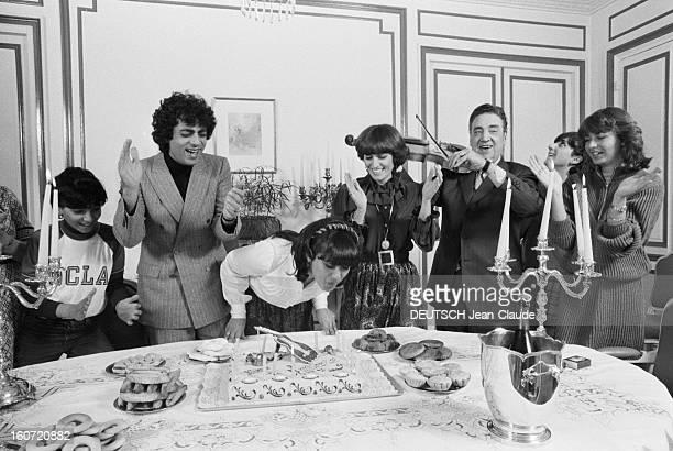 Enrico Macias Celebrates With Family The 17th Bithday Of His Daughter Jocya. Le 28 fevrier 1980, le chanteur Enrico MACIAS, fête l'anniversaire de sa...