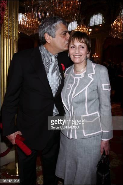 Enrico Macias et sa femme Suzy