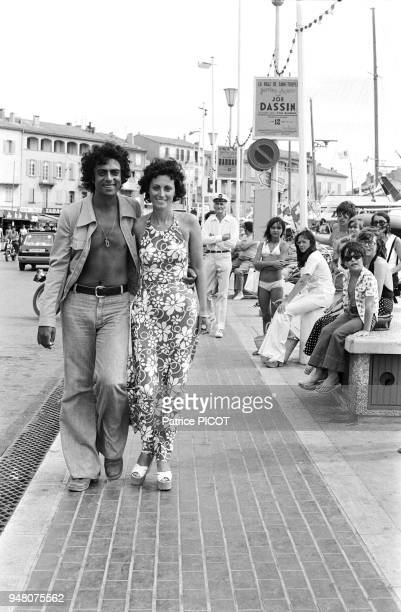 Enrico Macias in holidays with his wife Suzy in St Tropez