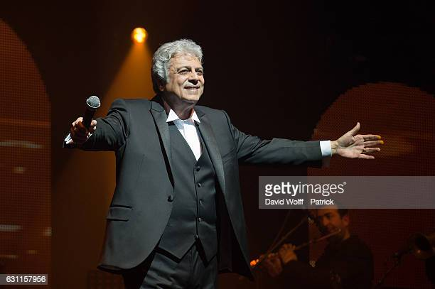 Enrico Macias performs at L'Olympia on January 7 2017 in Paris France