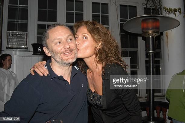 Enrico Marone-Cinzano and Jacqueline Schnabel attend MARNI Dinner for Consuelo Castiglioni at The Home of Jacqueline Schnabel on April 29, 2006 in...