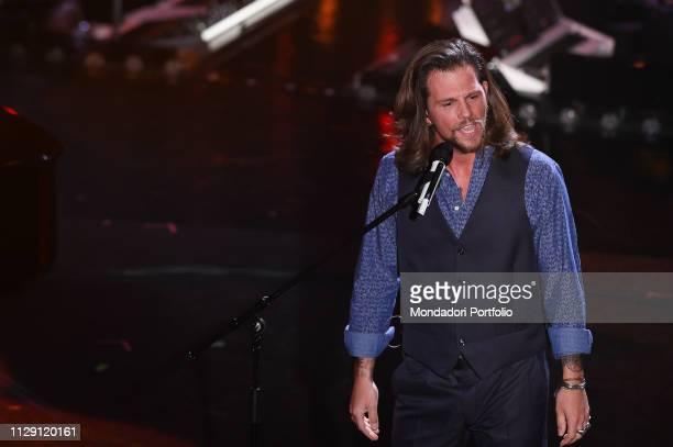 Enrico Nigiotti at the fourth evening of the 69th Sanremo Music Festival Sanremo February 8th 2019