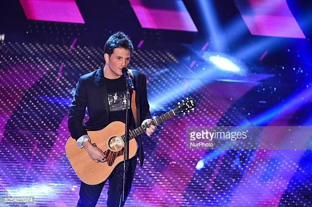 Enrico Nigiotti attends the fourth night of 65th Festival di Sanremo on February 13 2015 in Sanremo Italy