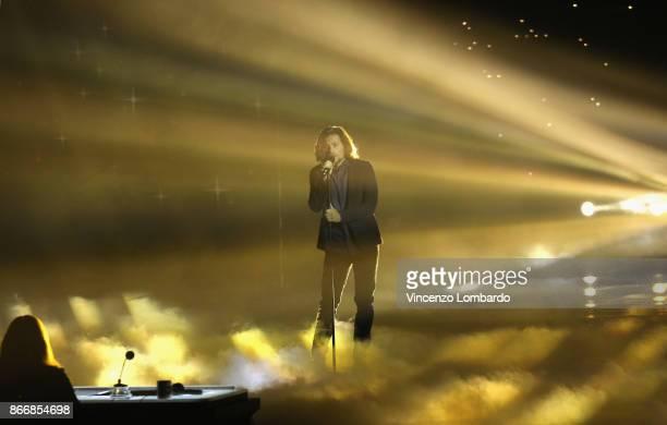 Enrico Nigiotti attends X Factor 11 on October 26 2017 in Milan Italy