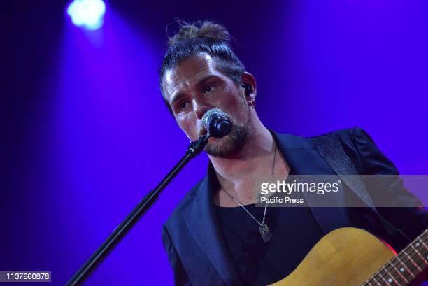 Enrico Nigiotti Italian singer performs live at Teatro Acacia in Napoli with his tour Cenerentola Tour 2019