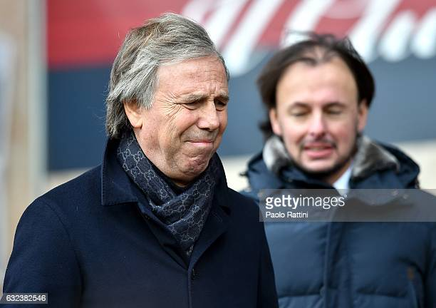 Enrico Preziosi chairman of Genoa is seen before the Serie A match between Genoa CFC and FC Crotone at Stadio Luigi Ferraris on January 22 2017 in...