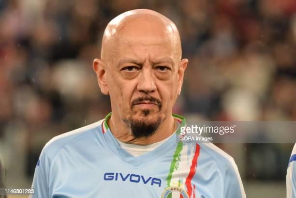 Enrico Ruggeri of Italian National Singers seen during the 'Partita Del Cuore' Charity Match at Allianz Stadium. Campioni Per La Ricerca win the...
