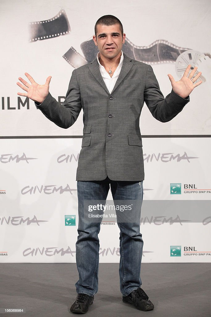 Enrico Toscano attends the 'Acqua Fuori Dal Ring/La Prima Legge Di Newton' Photocall during the 7th Rome Film Festival at the Auditorium Parco Della Musica on November 14, 2012 in Rome, Italy.