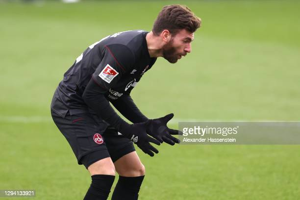 Enrico Valentini of Nürnberg reacts during the Second Bundesliga match between 1. FC Heidenheim 1846 and 1. FC Nürnberg at Voith-Arena on January 02,...