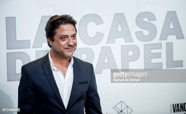 Enrique Arce attends 'La Casa de Papel' Madrid Premiere on April 24 2017 in Madrid Spain