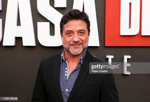 Enrique Arce attends the red carpet of 'La Casa De Papel' 3rd Season by Netflix on July 11 2019 in Madrid Spain