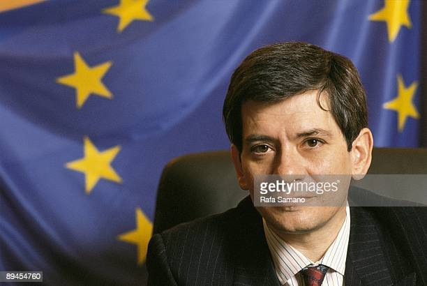 Enrique Baron president of the European Parliament In his office