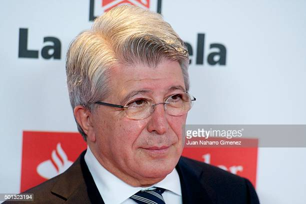 Enrique Cerezo attends 'As Del Deporte' awards 2015 photocall at Palace Hotel on December 14 2015 in Madrid Spain