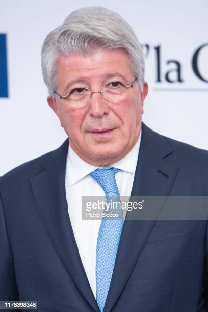 Enrique Cerezo attends 'El Mundo' newspaper 30th anniversary at Westin Palace hotel on October 01 2019 in Madrid Spain