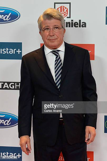Enrique Cerezo attends the 2015 AS Del Deporte Awards at The Westin Palace Hotel on December 14 2015 in Madrid Spain