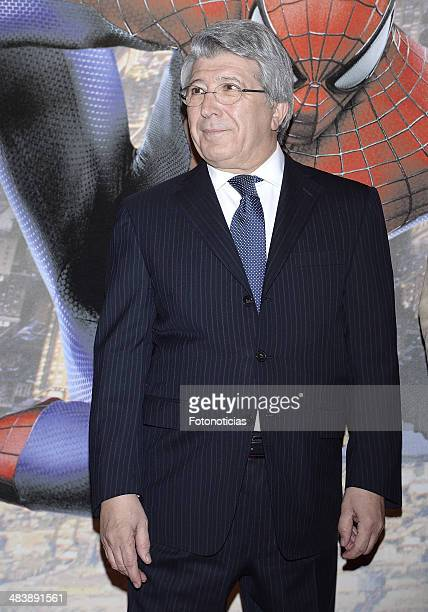 Enrique Cerezo attends 'The Amazing SpiderMan 2 Rise Of Electro' special screening reception at the at US ambassador's residence on April 10 2014 in...