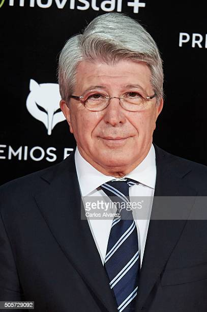 Enrique Cerezo attends the Feroz Awards 2016 red carpet at the Gran Teatro Principe Pio on January 19 2016 in Madrid Spain