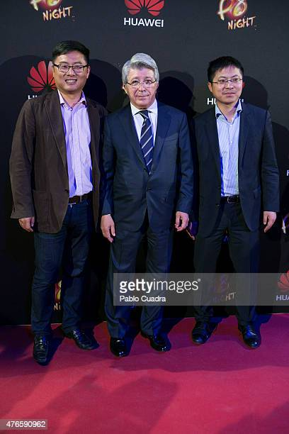 Enrique Cerezo attends the Huawei P8 presentation party at Bodevil theatre on June 10 2015 in Madrid Spain