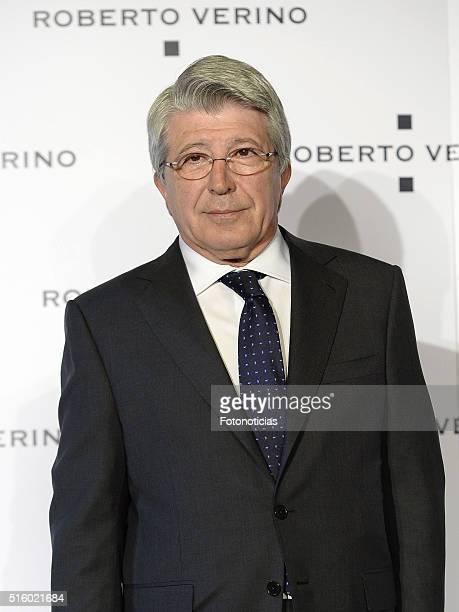 Enrique Cerezo attends the Roberto Verino new SpringSummer 2016 'Un Balcon al Mar' collection launch at Platea on March 16 2016 in Madrid Spain